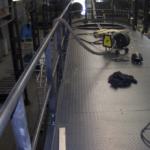 Totaalzicht van het bordes in de biomassacentrale van Volvo in Gent