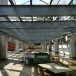 Detailfoto van de metalen constructie voor Elia in Mortsel