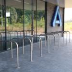 RVS fietsbeugels voor de Aldi