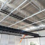 De afgewerkte loopbruggen voor de filmstudio's in Vilvoorde
