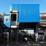 Totaalfoto van het afgewerkte laadstation in Ertvelde