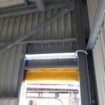 De binnenkant van de metalen constructie voor Oleon in Ertvelde.