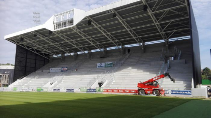 L'aménagement du Regenboogstadion